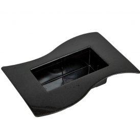 Műanyag  tál grafit szürke Szafari M5x24X12cm