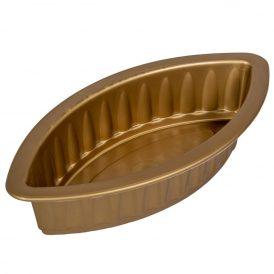 Műanyag bordás óriás hajó arany M8x19x38 cm