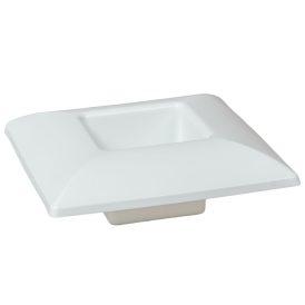 Műanyag tál négyzet alakú fehér M6x17x17cm