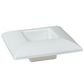 Műanyag tál négyzet alakú fehér 17*17cm