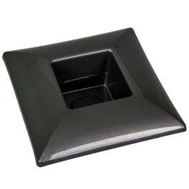 Műanyag tál négyzet alakú szürke 17x17cm