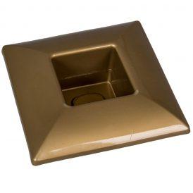 Műanyag tál négyzet alakú arany 17x17cm