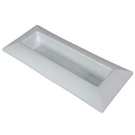Műanyag tál téglalap alakú fehér 39x17cm