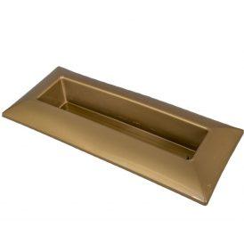 Műanyag tál téglalap alakú arany 39*17cm