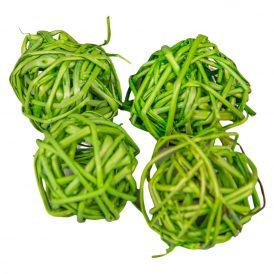 Vessző labda 3cm f.zöld 24db-os