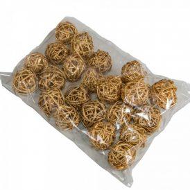 Vessző labda 3cm f.arany 24db-os