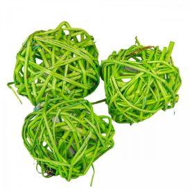 Vessző labda 4cm f. zöld 20db-os