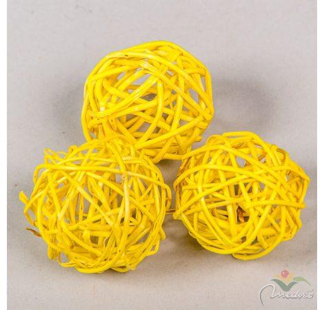 Vessző labda 5cm f.sárga 12db-os