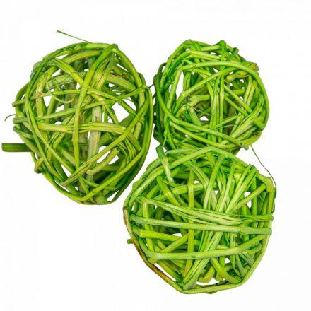 Vessző labda 5cm f. zöld 12db-os