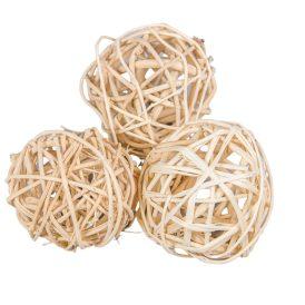 Vessző labda 6cm fehérít.12db-os