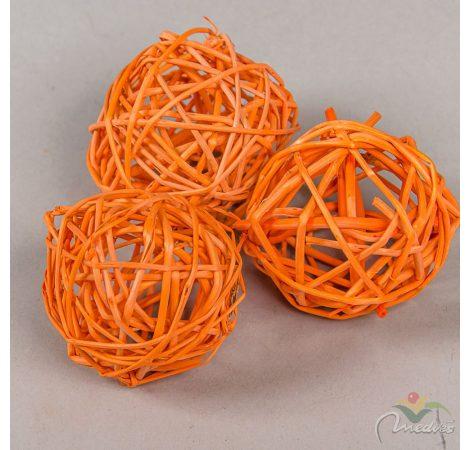Vessző labda 6cm f. narancs 12db-os