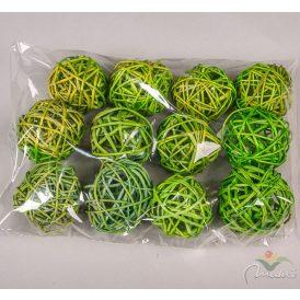 Vessző labda 6cm f.zöld 12db-os