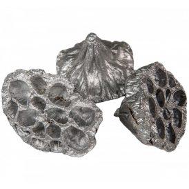 Lótusz 4-5cm ezüst  15db-os