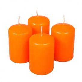 Adventi gyertya matt narancs 40*60mm (db ár) 4db/csom