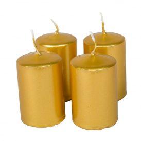 Adventi gyertya metál arany 40*60mm 4db/csom (db ár)