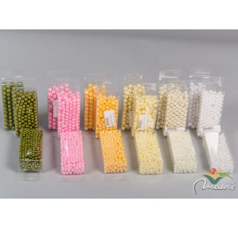Gyöngy több méretben műanyag dobozban  kb 85 gr