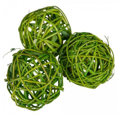 Vessző labda 6cm zöld  12db-os