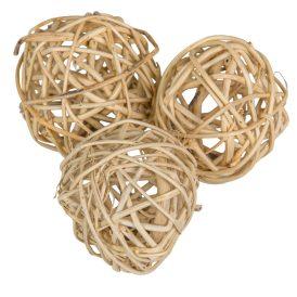 Vessző labda 6cm natúr 12db-os
