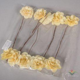 Pálma rózsa 6cm havas fehér 10db-os