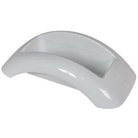 Műanyag domború tál fehér FOCUS M10x34x18cm