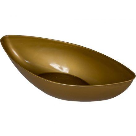 Műanyag tál ovális alacsony arany  M7 x31,5cm