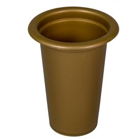 Műanyag sírváza betét arany15 x11 cm
