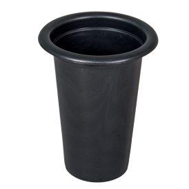 Műanyag sírváza betét fekete M15  D12 cm