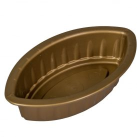 Műanyag bordás kis hajó arany M6,5 x25 x14,5 cm