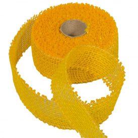 Juta szalag 5cm x10y sárga