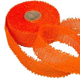 Juta szalag 5cm x10y sötét narancs