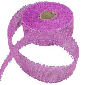 Juta szalag 5cm x10y világos lila