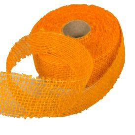 Juta szalag 5cm x10y világos narancs
