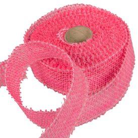 Juta szalag 5cm x10y világos pink