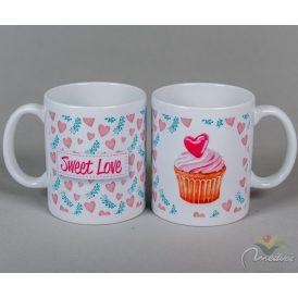 Kerámia bögre Sweet Love muffinos