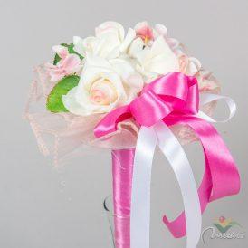 Szárazvirág kézi csokor 3 rózsás