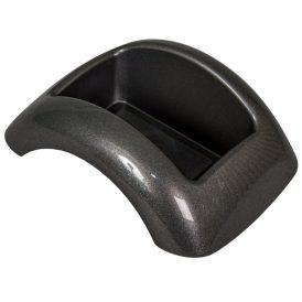 Műanyag domború tál szürke FOCUS M8,5x23x17cm
