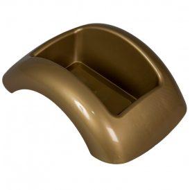 Műanyag domború tál arany FOCUS M8,5x23x17cm
