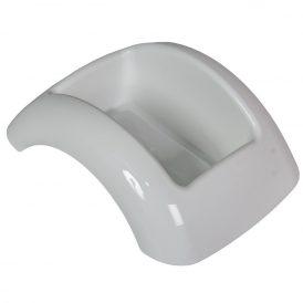Műanyag domború tál fehér FOCUS M8,5x23x17cm