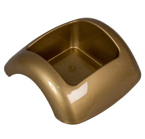 Műanyag domború tál arany FOCUS M6x15,5x15cm