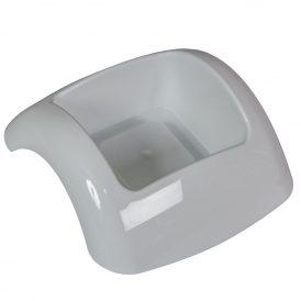 Műanyag domború tál fehér FOCUS M6x15,5x15cm