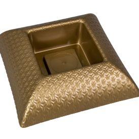 Műanyag tál négyzet alakú mintás arany M6,5x24x24cm