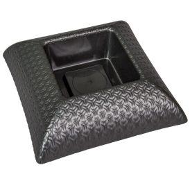 Műanyag tál négyzet alakú mintás szürke M6,5x24x24cm
