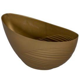 Műanyag csónak féloldalt bordás arany M11x25x10cm
