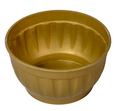Műanyag tál kerek bordás arany D15cm  M8cm