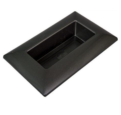 Műanyag tál téglalap alakú szürke 28 x18 cm