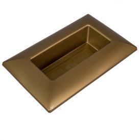 Műanyag tál téglalap alakú arany 28 x18 cm