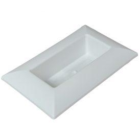Műanyag tál téglalap alakú fehér 28 x18 cm