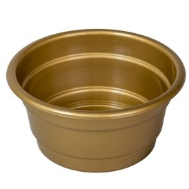 Műanyag nagy tál arany D17cm M8cm