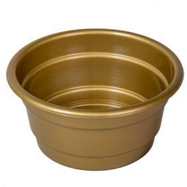 Műanyag nagy tál arany D16cm M7cm
