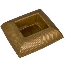 Műanyag tál téglalap alakú mintás arany 19x17 cm
